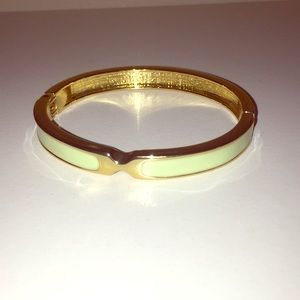 Vintage Mint and Gold Bracelet